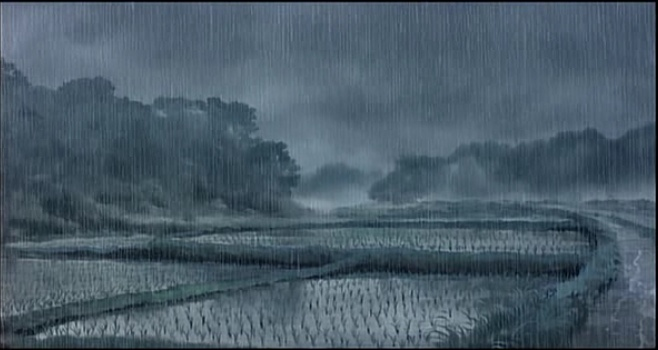 Ghibli My Neighbour Totoro Raining Landscape