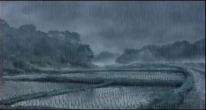 Ghibli My Neighbour Totoro Raining Landscape