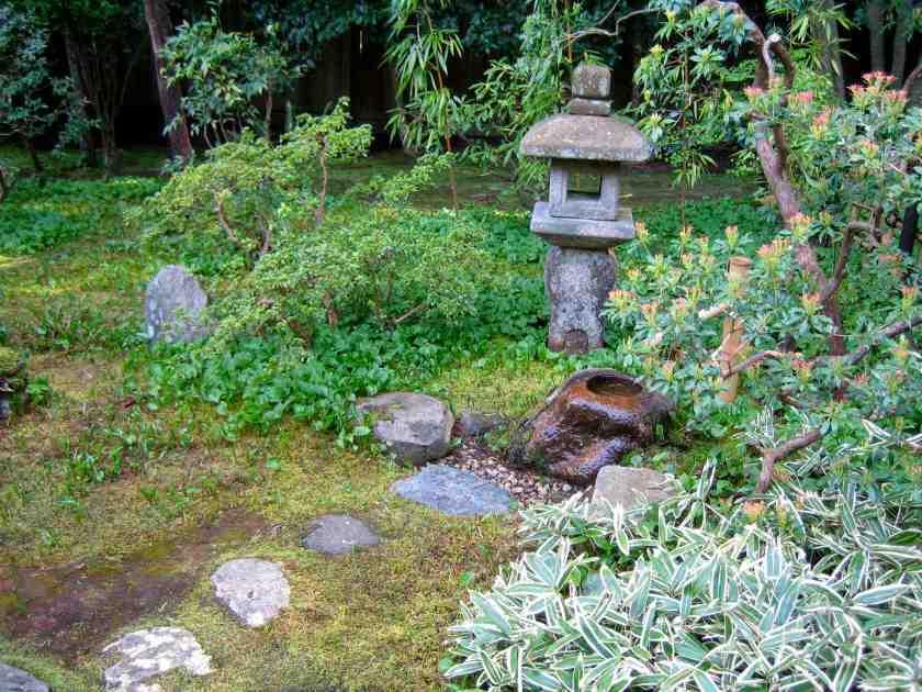 Nitobe Japanese Zen Garden - Lantern and Stone Basin tsukubai