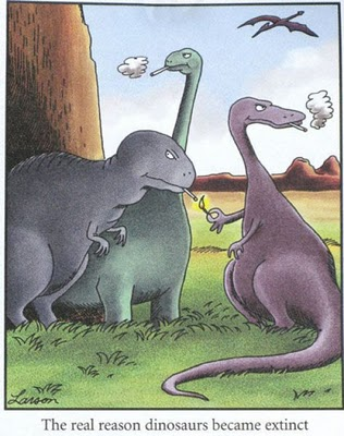 Larson Far Side Dinosaur Extinct