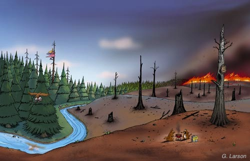 Larson Worm story Forest Fire