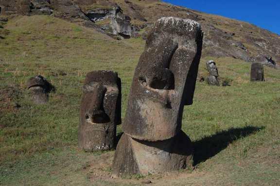 Curious Moai Easter Island