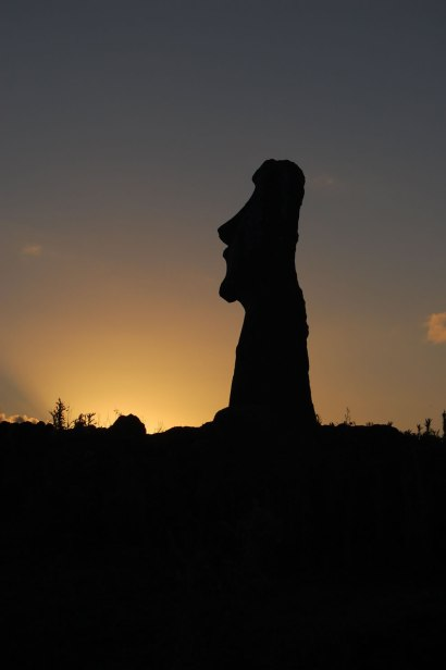 Twilight at Easter Island