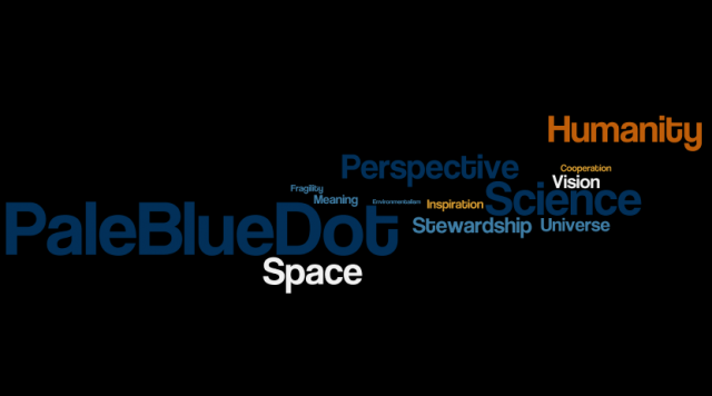 Pale Blue Dot Word Cloud