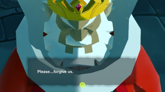 Zelda TWW King Hyrule Forgive Us Wind Waker