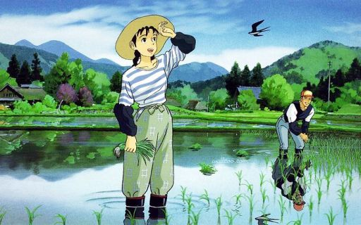 Only Yesterday Ghibli farmwork