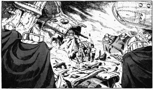 Kushana and an injured Kurotowa ((Vol.1, Hardcover Edition, p.476)