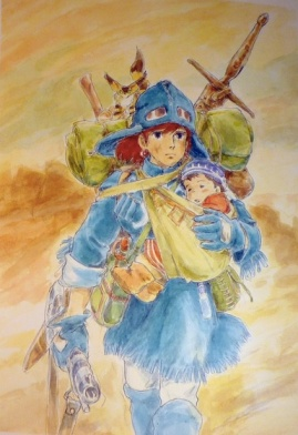 Nausicaa Animage August 1989 cover. (Watercolor Impressions, p. 47)