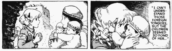 Nausicaa and the kids (Vol.1, Hardcover Edition, p.421)