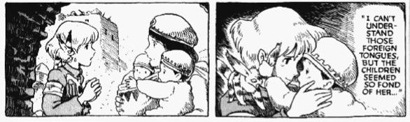 Nausicaa and the kids (Vol.1, Hardcover Edition, p.421)