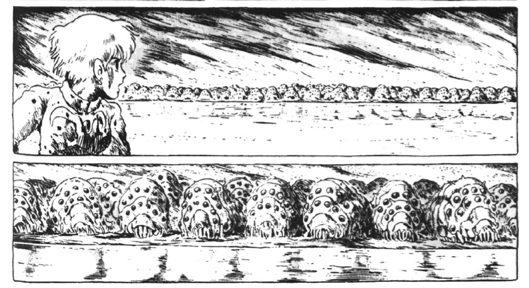 Nausicaa and Ohmu by the Lake