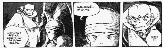 Nausicaä is gone. (Hardcover Edition, Vol. 2, p. 153)