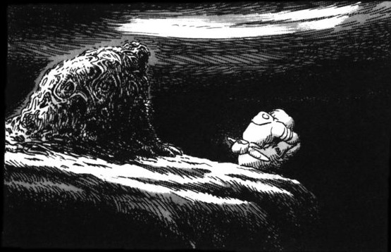 Nausicaa and Miralupa at the abyss