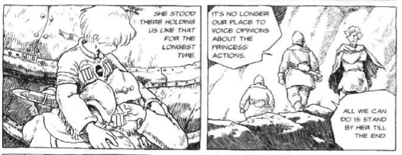 Nausicaa comforts the valley crew