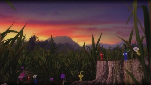 A Pikmin sunset