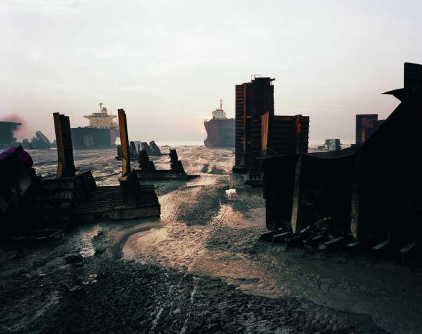 Burtynsky's Manufactured Landscape Shipbreaking Plate 59