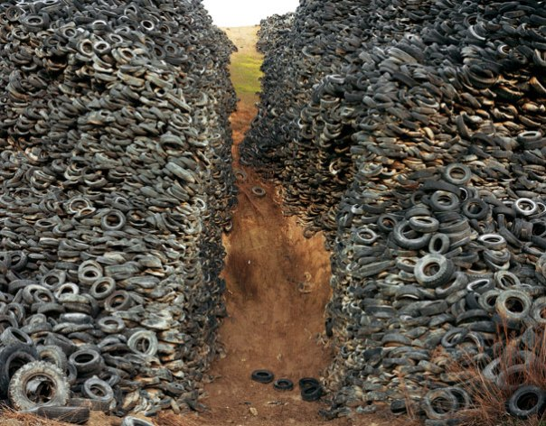 Burtynsky's Manufactured Landscapes Tire Pile Plate 42