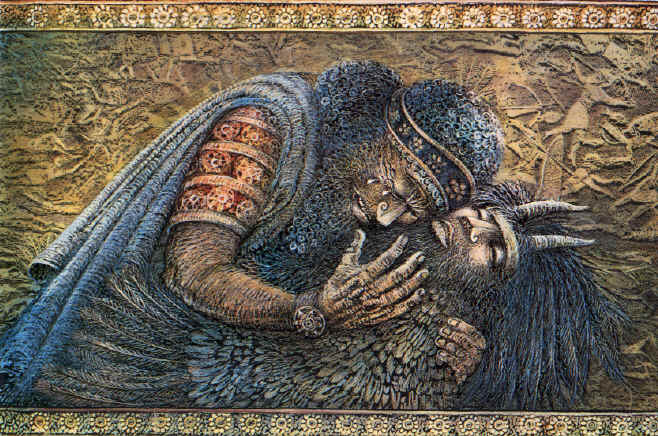 the epic of gilgamesh three ways ekostories gilgamesh mourning enkidu by ludmila zeman ""