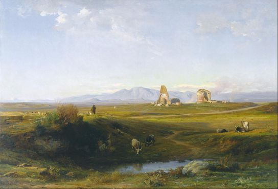Jean Achille Benouville - A View of the Roman Countryside