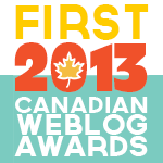 2013 Canadian Weblog Award - Winner