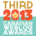 2013 Canadian Weblog Award Third Place