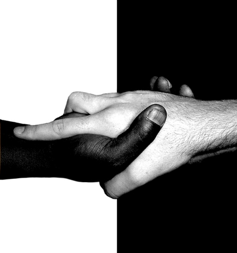 Black and White Handshake