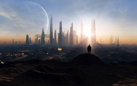 SciFi Cityscape by Darink-Wide