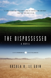 Urras and Anarres - Book Cover for Ursula Le Guin's The Dispossessed