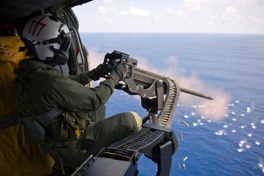 Helicoptor Machine Gun Fire