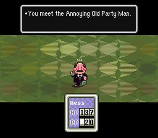 Earthbound Annoying Old Party Man