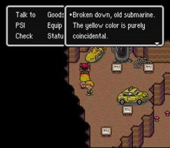 Earthbound's Yellow Submarine
