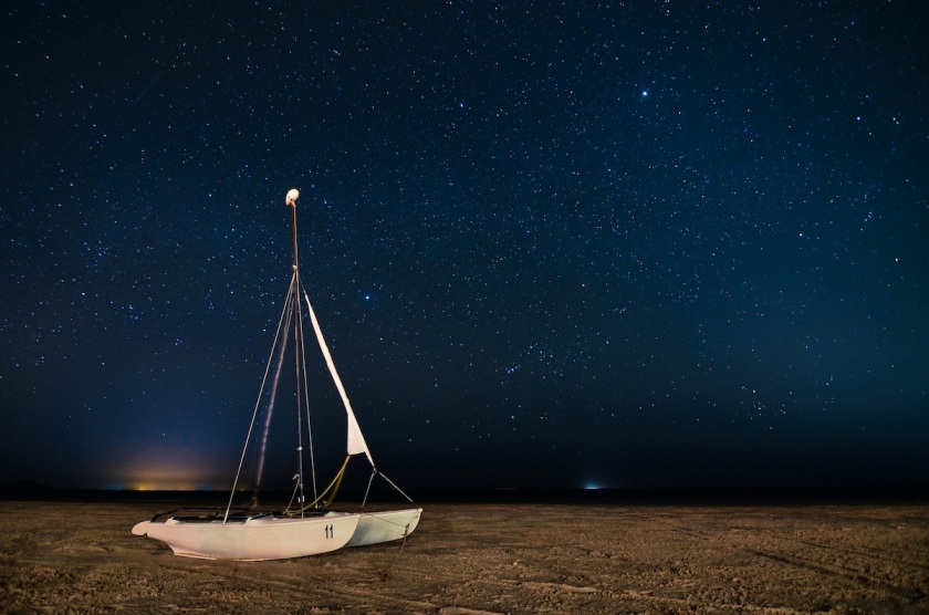 A Boat in the Desert