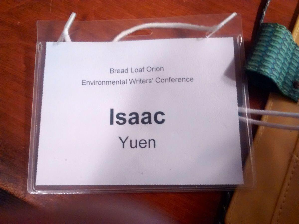 BreadLoaf Conference Nametag