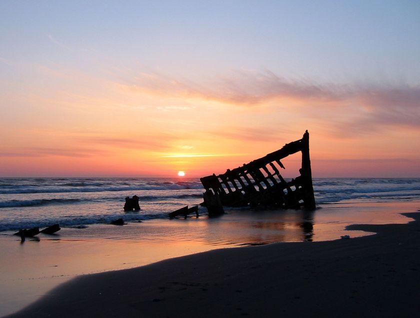 Peter iredale Sunset