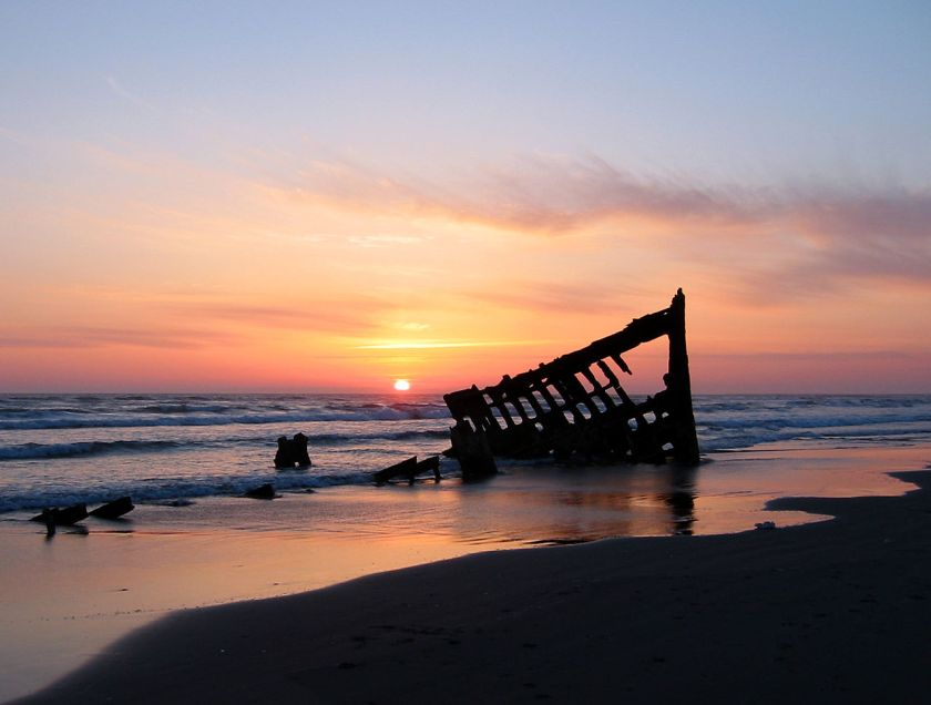 Peter iredale Sunset