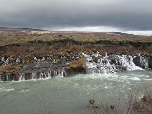 Hraunfossar Waterfall Iceland